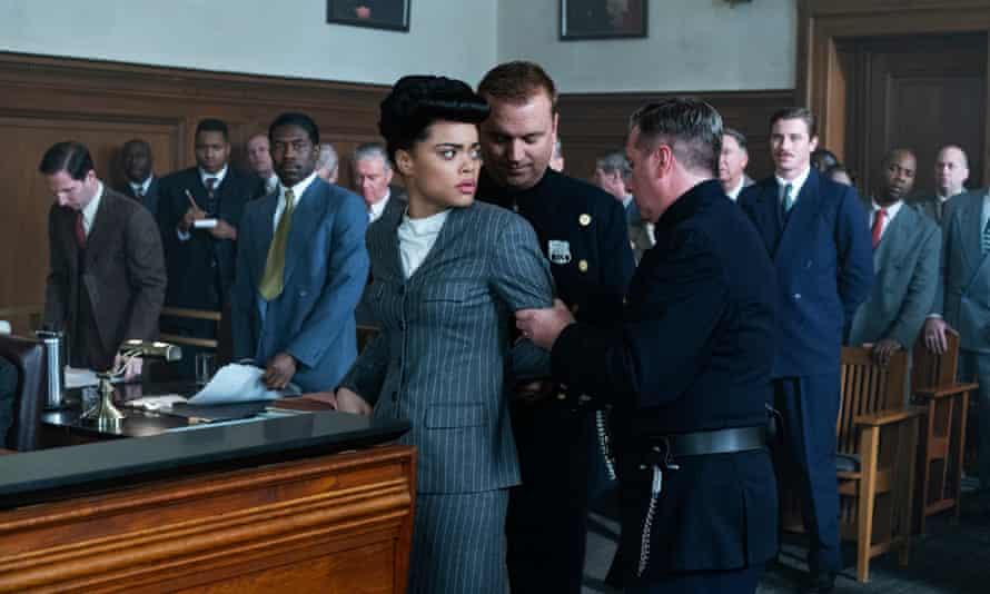 Andra Day stars in Hulu's biopic of jazz singer Billie Holiday.